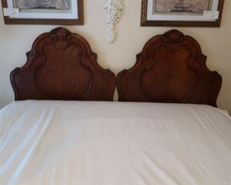 79.  pair  of  twin headboards- can also be used for king bed    Price  is  125.00