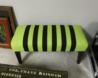 117   stripe  green  and  black  bench  Price  is  65.00  each