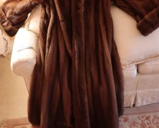 full length  mink  coat  the  size  is  large