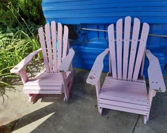 Wood Adirondack chairs $25 each