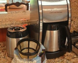 "73. Lot E73 (0147.jpg) - – ""Cuisinart"" Automatic 73. Lot E73 (0147.jpg) - $85.00 – ""Cuisinart"" Automatic Grind and Brew Thermal Coffee maker with extra pot.Grind and Brew Thermal Coffee maker with extra pot."