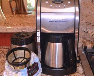 "73. Lot E73 (0147.jpg) – ""Cuisinart"" Automatic Grind and Brew Thermal Coffee maker with extra pot."
