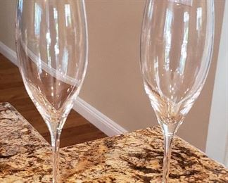 110. Lot S110 (0203.jpg) - $25.00 – Pair Champagne Flutes New, Never Used by Riedel Austria