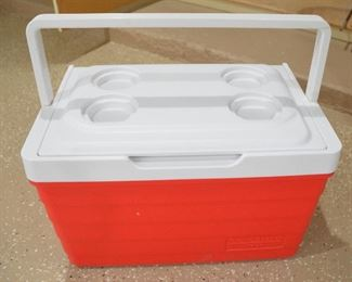 "148. Lot S148 (0275.jpg) - $35.00 Cooler - Picnic Basket by igloo. 19"" wide x 12"" High x 13 deep"