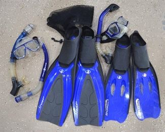 152. Lot S152 (0279.jpg) – $60 - 2 sets - Diving Swimming Accessories. Fins, Masks, Tubes, Glasses.