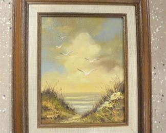 "161. Lot A161 (0294.jpg) - $15.00 – Wooden Frame - Painting 15"" x 13"""