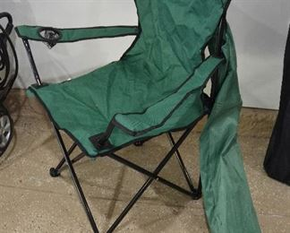 163. Lot F163 (0298.jpg) - $18.00 – Green Folding Chair with Shoulder Bag.