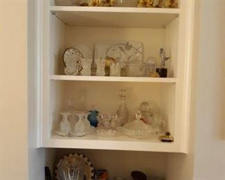 variety of glassware decor