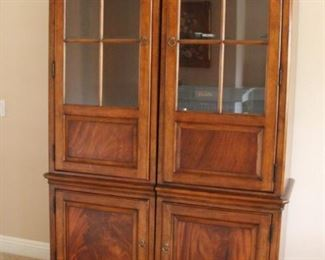 "#11 a $100.00 #11 b $100.00 Lot/2 cabinets with glass doors Each 80""h X 26""w X 19.5""d"