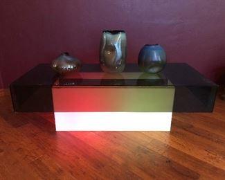 Lighted plexiglass table