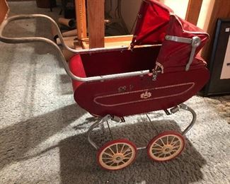 Vintage child's baby carriage