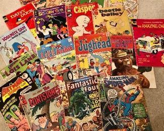 Big selection of vintage comic books