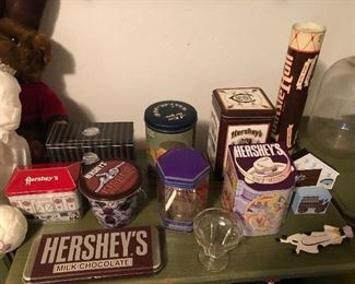 Collection of Hershey items