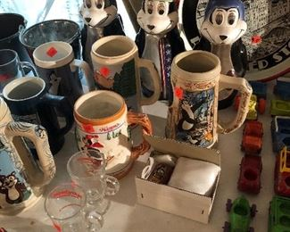 Hamms beer mugs and steins