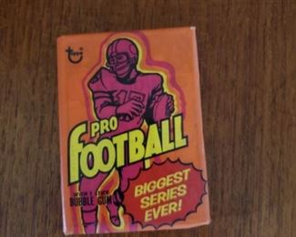 1973 Topps football pack,  6 available  These packs have been previously opened