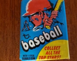1970 Topps baseball pack, 8 available These packets have been previously opened