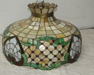 """ITEM 27---stained glass hanging fixture 24"""" diameter  $150.00"""