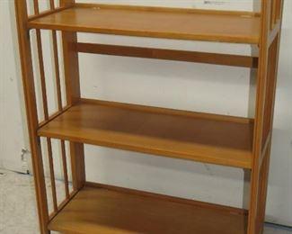 "ITEM 18-- Folding shelf, 38 1/2"" high, 27 3/4' wide, 12"" deep. $60.00"