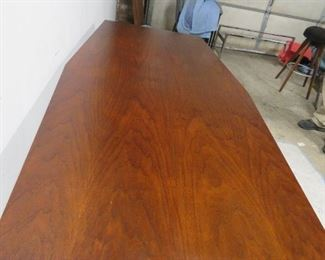 Large Walnut table with chrome legs pic 3