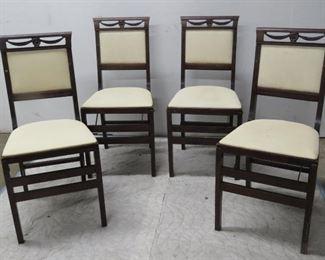 ITEM 28-- 4 folding regency style mahogany chairs. $100.00