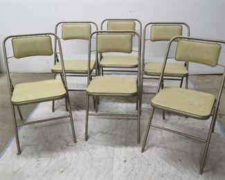 ITEM 31 -- set of 6 samsonite metal and vinyl folding chairs  $75.00