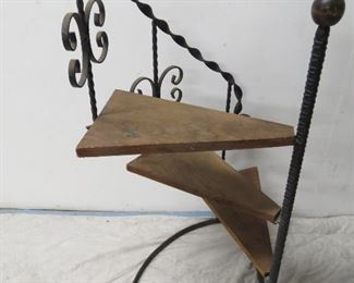 iron and wood step decorator shelf/plant stand. PIC 2