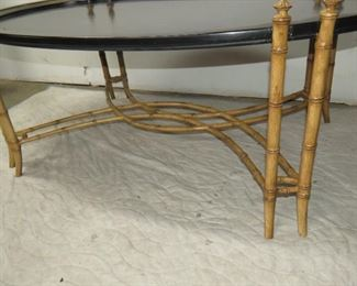 contemporary faux bamboo paint decorated coffee table. PIC 2