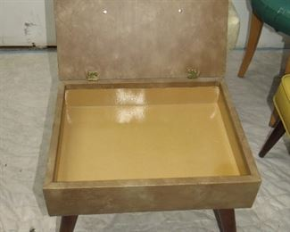 """4 MCM ottomans, lift seat beige-18"""" long,14""""wide. 14"""" high  PIC 2"""