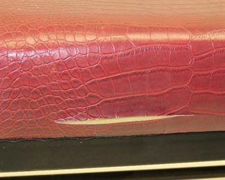modern faux alligator x bench. { tear on side}   PIC 2