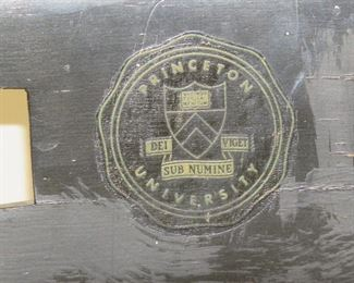 Princeton university collage chair, paint worn and has paint splatter.  PIC 2