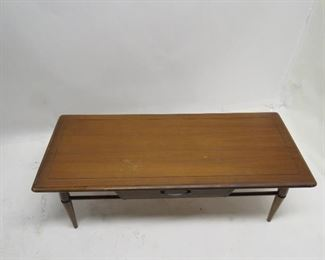 MCM coffee table with drawer, legs wobbly,  PIC 2