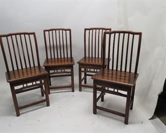 ITEM 106---set of 4 Asian modern chairs.   $150.00