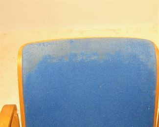 Knoll MCM bentwood armchair, split in side, upholstery AS IS  PIC 2