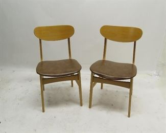 ITEM 119---Pair MCM bentwood chairs $50.00