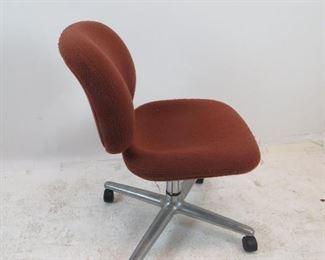 Herman Miller upholstered swivel chair.  PIC 3