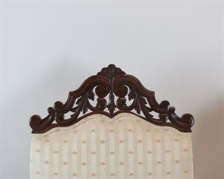 Pair of Jacobean hand carved walnut throne arm chairs.    PIC 3