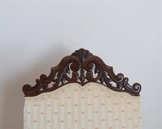 Pair of Jacobean hand carved walnut throne arm chairs.    PIC 4