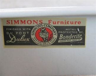 Norman Bel Geddes for Simmons furniture metal industrial desk, with speckled laminate top. PIC 3