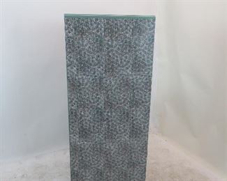 Norman Bel Geddes for Simmons furniture metal industrial desk, with speckled laminate top. PIC 5