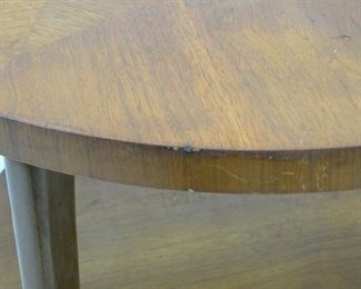 Lane MCM 2 tier table. scratches, minor chips.  PIC 3