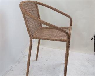 pair wicker bar stools. PIC 2