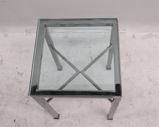 MCM chrome and glass stand.  PIC 2