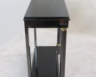 DIA steel brass, black beveled glass console table.  PIC 2