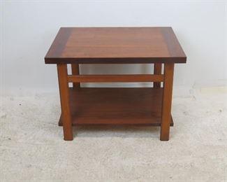 "ITEM 212--- Lane MCM table, [worn finish]. 27"" wide, 20"" deep, 20"" high  $75.00"