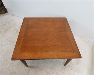 MCM walnut table with dowel corners.    PIC 4