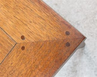 MCM walnut table with dowel corners.    PIC 2
