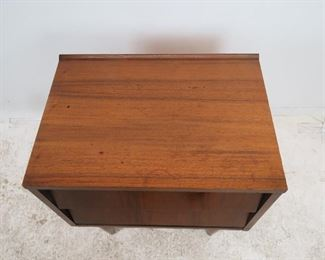 MCM 2 drawer nightstand, has , minor chipping. surface marks.  PIC 3