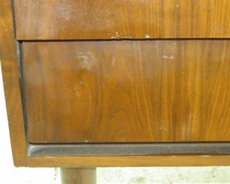 MCM 2 drawer nightstand, has , minor chipping. surface marks.  PIC 2