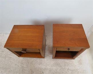 2 MCM nightstands, veneer loss, scratches.  PIC 3