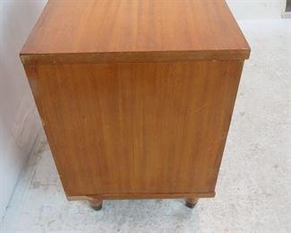2 MCM nightstands, veneer loss, scratches.   PIC 2